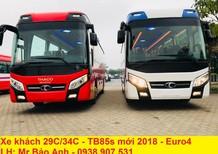 Bán xe 34 chỗ Thaco TB85s động cơ Weichai mới, đời 2018