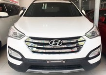 Cần bán Hyundai Santa Fe 2.4L 2014, màu trắng, nhập khẩu chính hãng, 885tr