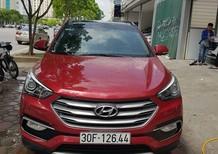 Cần bán lại xe Hyundai Santa Fe 2.2L 4WD 2017, màu đỏ, biển HN, odo 1vạn