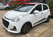 Hyundai Sơn Trà Bán Hyundai i10 1.0MT 2018, màu trắng, nhập khẩu CKD bản đủ