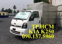 TP.HCM Thaco Kia K250 mới 2.49 tấn, phun dầu điện tử, thùng kín kín inox 304, màu xám giá cạnh tranh