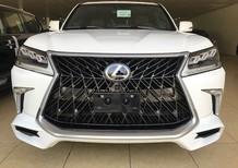 Bán Lexus LX570 Super Sport S Model 2017 màu Trắng, nội thất nâu da bò, xe xuất Trung Đông mới 100%
