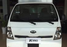 Bán xe tải Kia K250, động cơ tiêu chuẩn Euro 4, tải trọng 2 tấn 4 vào thành phố. Tặng 50% phí trước bạ đến 31/12/2018
