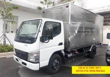 Bán xe tải Fuso Canter 4.7 1 tấn 9, thùng kín 1T9 inox, hỗ trợ trả góp