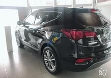Bán xe Hyundai Santa Fe sản xuất năm 2018, màu đen huyền bí, khuyến mãi cực lớn trong tháng 6
