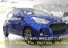 Bán Hyundai i10 mới 2018, màu xanh ,góp 80%xe,LH Ngọc Sơn:0911.377.773