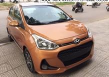 Bán ô tô Hyundai i10 mới 2018 màu cam, giá chỉ 315 triệu,góp 80%xe