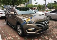 Bán xe Hyundai Santa Fe năm sản xuất 2016, màu nâu số tự động