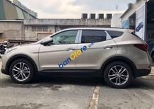 Bán xe Hyundai Santa Fe sản xuất năm 2018, màu vàng cát