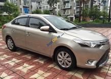 Bán ô tô Toyota Vios 1.5G (CVT) sản xuất 2017, màu vàng , máy móc nguyên bản