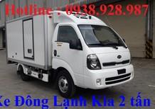 Xe tải đông lạnh 2 tấn - Kia K250 - Động cơ Hyundai - Máy lạnh HT100II đời 2018