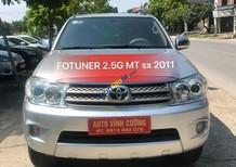 Bán xe Toyota Fortuner 2.5G 2011, màu bạc