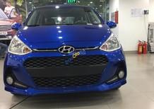 Bán Hyundai Grand i10 1.2AT sản xuất năm 2017, màu xanh lam, 435tr