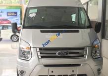 Bán Ford Transit 2.4 Mid sản xuất năm 2018, màu bạc, giá 790tr