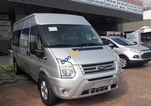 Bán Ford Transit 16 chỗ trung cấp (mâm đúc, kính liền) sử dụng động cơ Diesel 2.4L, 6 cấp số sàn