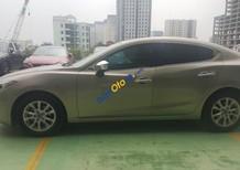 Cần bán lại xe Mazda 3 1.5 AT sản xuất 2015, màu vàng như mới, 597 triệu