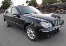 Cần bán Mercedes C200K năm sản xuất 2003, màu đen số sàn