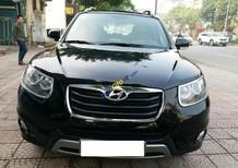 Xe Hyundai Santa Fe năm sản xuất 2012, màu đen, xe nhập số sàn