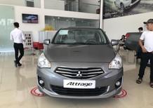 Cần bán xe Mitsubishi Attrage 2018, màu xám, nhập khẩu, lợi xăng 5L/100km, cho góp đến 90%