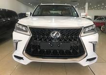 Bán Lexus LX570 Super Sport S 2018 Trung Đông trắng, nội thất nâu da bò mới 100%