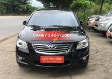 Cần bán Toyota Camry 2.4G sản xuất 2007, màu đen giá tốt