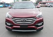 Cần bán xe Hyundai Santa Fe 2.4AT đời 2018, màu đỏ đô giao ngay trả góp 90%