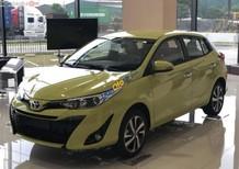 Bán xe Toyota Yaris 1.5G CVT năm sản xuất 2018, màu vàng, nhập khẩu, giá tốt