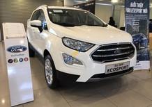 Bán Ford EcoSport Titanium 1.0L AT, 2018, màu trắng, tặng bảo hiểm thân vỏ, hỗ trợ vay 90% giá xe, thủ tục nhanh gọn
