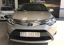 Bán Toyota Vios G 1.5AT 2017, màu vàng cát, số tự động
