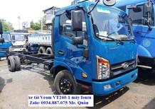 Bán xe tải Veam VT260-1 (1.9 tấn) thùng dài 6.2m, đi vào thành phố ban ngày