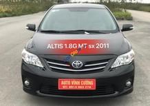Bán xe Toyota Corolla altis 1.8G MT sản xuất 2011, màu đen chính chủ