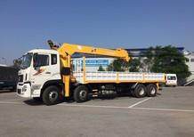 Bán xe tải 4 chân Dongfeng Hoàng Huy gắn cẩu Atom 12 tấn