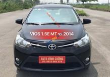 Bán ô tô Toyota Vios 1.5E MT năm 2014, màu đen, giá chỉ 438 triệu