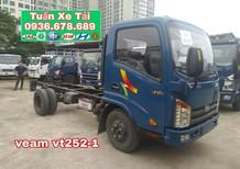 Bán xe Veam VT252-1, tải trọng 2t4, thùng dài 4m1, máy Hyundai