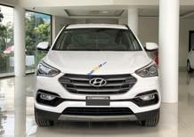 Cần bán lại xe Hyundai Santa Fe CRDi năm 2018, màu trắng