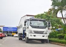 Bán Thaco Ollin 900B tải gắn cẩu 2017, màu trắng, giá 980tr