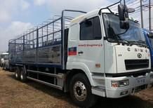 Bán ô tô Hino xe tải CAMC Hino 3 chân 15T, màu trắng, nhập khẩu nguyên chiếc