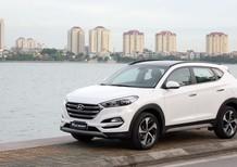 Bán xe Hyundai Tucson 2019 tiêu chuẩn màu trắng giảm 15tr tặng 5tr phụ kiện