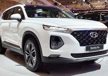 Bán ô tô Hyundai Santa Fe 2020 xăng cao cấp trắng giá ưu đãi