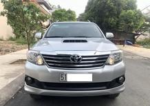 Cần bán Toyota Fortuner máy dầu, SX 2013, ĐK 2014, màu bạc