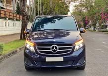 Bán xe Mercedes V250 màu xanh/đen nhập khẩu, máy xăng, model 2018, siêu đẹp giá siêu tốt