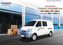 Bán xe Thaco Towner Van 2 chỗ đến 5 chỗ, tải 490 nâng tải 945 kg, màu đỏ hoặc theo yêu cầu
