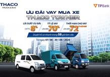 Xe tải Van Thaco Towner lưu thông 24/24 trong thành phố. Ưu đãi lãi suất