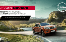 Bán tải Nissan Navara trở lại cuộc đua, ưu đãi 50% phí trước bạ tháng 03/2021
