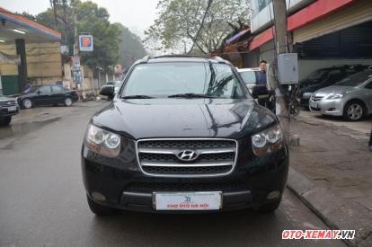 Cần bán lại xe Hyundai Santa Fe đời 2008, màu đen, nhập khẩu nguyên chiếc, số tự động