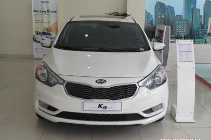 Cần bán xe Kia K3 1.6 AT đời 2014, màu trắng, nổi trội về thiết kế và nhiều tính năng phong phú
