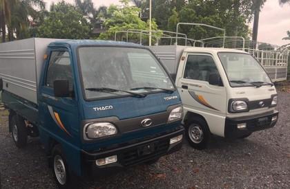 Cần bán xe Thaco TOWNER 800 thùng mui bạt đời 2018 màu xanh lam