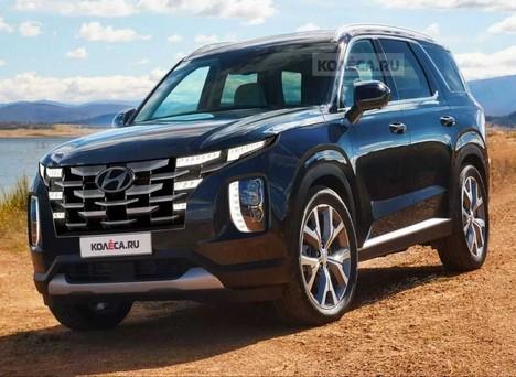 Hyundai Palisade 2022 rò rỉ ảnh dựng thiết kế